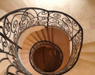 Cream marble marble curved staircase, Co. Offaly