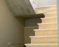 Honed Cream Marfil staircase, 40mm Ogee Profile, Co. Cork