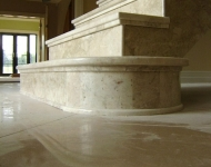Polished Cappuccino marble with Ogee profiling on step, Co. Tipperary