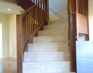 Honed Cream Marfil marble turned stairs, Co. Offaly