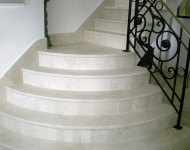 Brushed Creama Marfil marble staircase, Galway