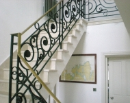 Antiqued Cream Marfil marble stairs, Galway